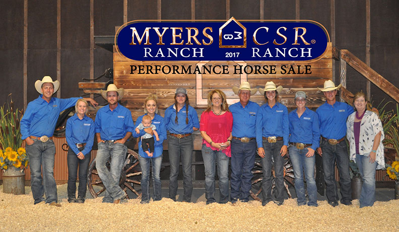 Csr/Myers Performance Horse 2017 Sale Results